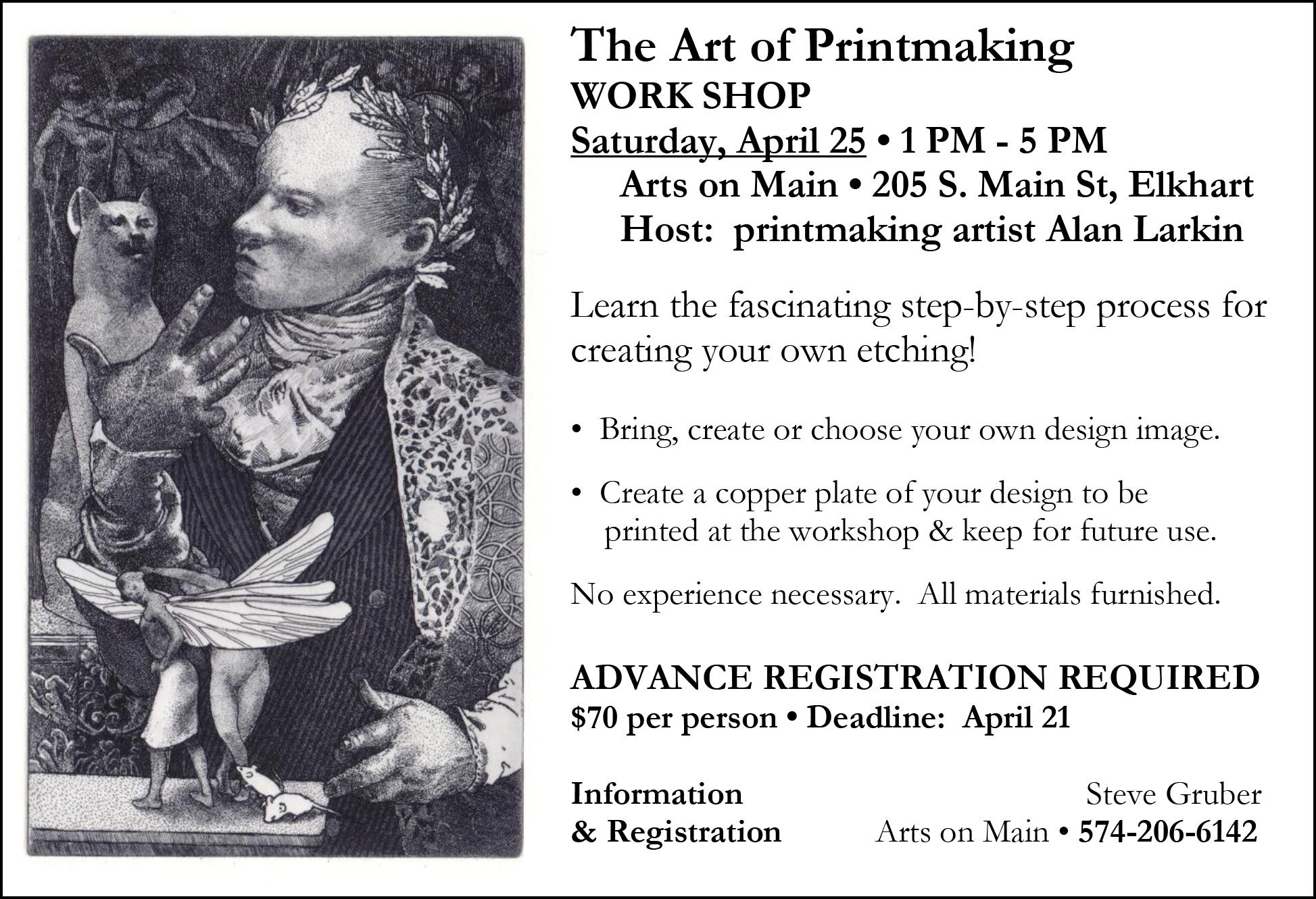 April 2015 Art of Printmaking Workshop Postcard