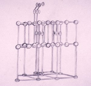 A Tinkertoy drawing by the artist Alan Larkin.