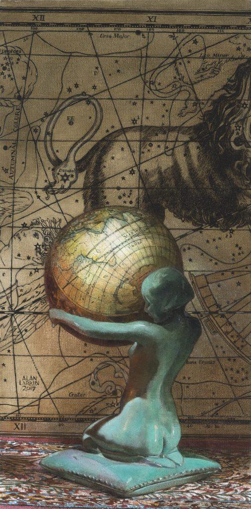 "Gaia - Oil on Canvas (24"" x 12"")"