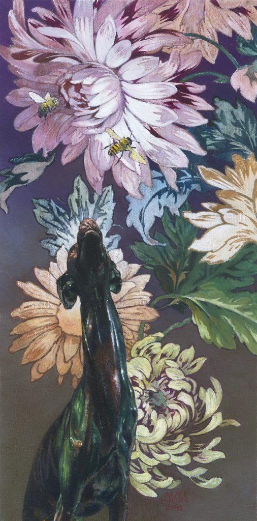 "Upward Facing Dog - Oil on Canvas (24"" x 12"")"